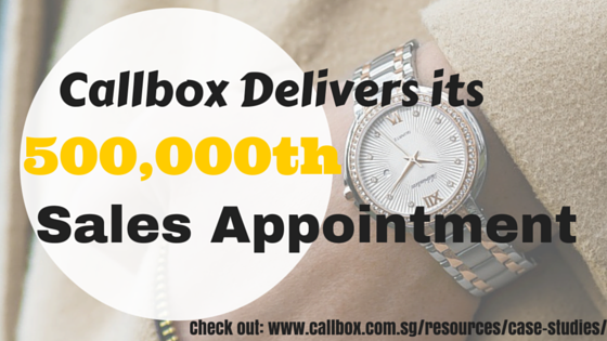 Case Study: Callbox Delivers its 500,000th Sales Appointment